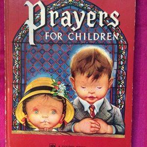 """Children's vintage book HB """"Prayers for Children"""""""